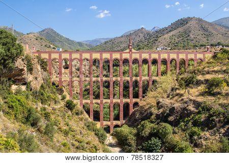 Roman Aqueduct In Nerja, Spain