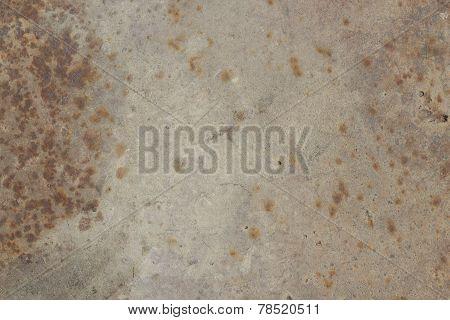 Rusty metal brown texture closeup