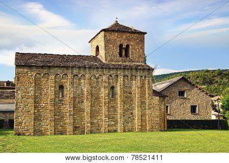 Santa Cruz de la Seros, romanesque church in Aragon, Spain poster