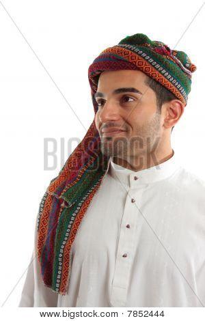 Confident, Smiling Ethnic Arab Man