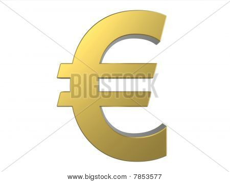European Union Currency - Euro Golden Symbol