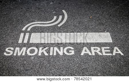 Smoking Area outside the Paddington station in London poster