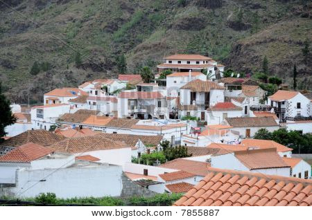 Village Fataga on Grand Canary Island Spain poster