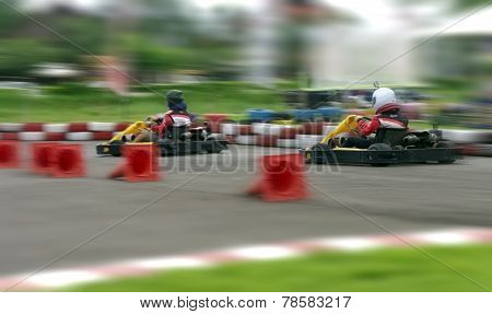Speed Go Carting, Abstract Fast