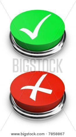 Green Or Red - Yes Or No - Buttons