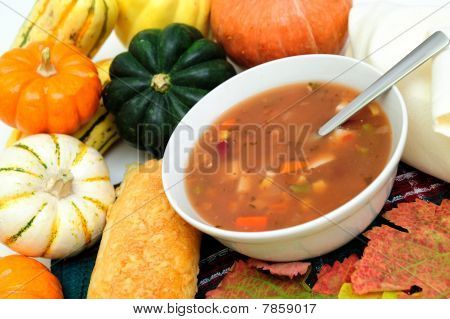 Fall Vegetables And Warm Soup