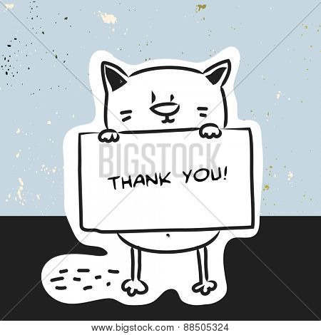 Black Cat Thank You Cards