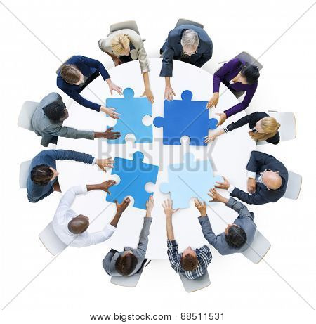 Business People Support Teamwork Meeting Organizing Concept