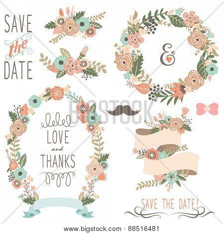 Rustic Wedding Flowers Wreath