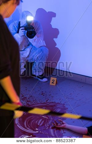 Inspection Of The Crime Scene