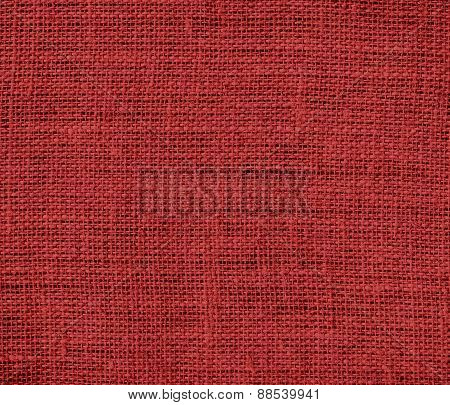 Auburn color burlap texture background