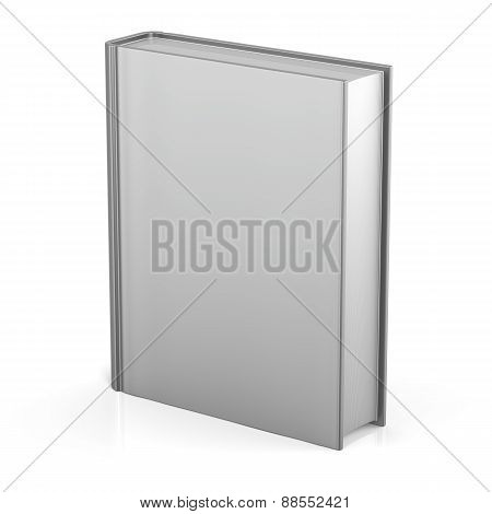 Blank Book Empty Cover Template Single Brochure Document