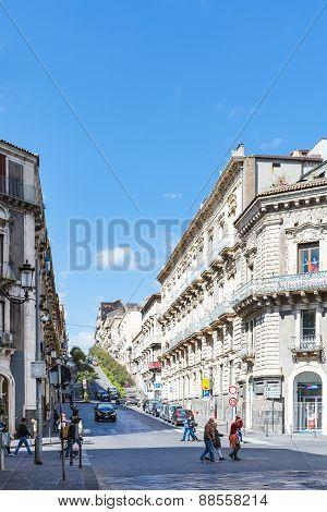 Cityscape Of Catania City, Sicily