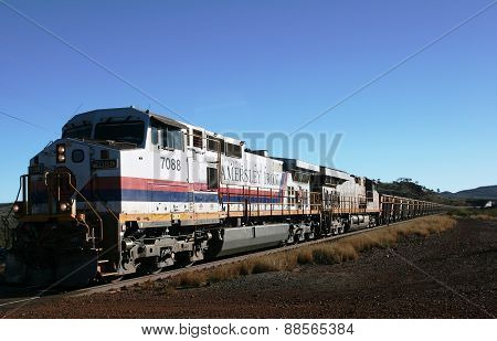 Hamersley Iron ore train in West Australia