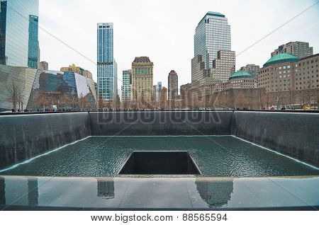 9/11 Memorial At The World Trade Center Ground Zero
