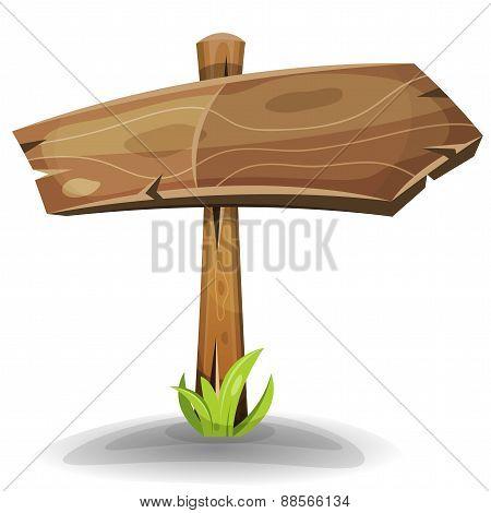 Comic Wooden Sign Arrow