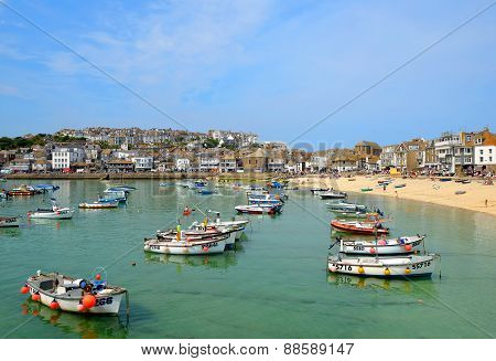 Fishing and pleasure boats in the Harbour at St Ives
