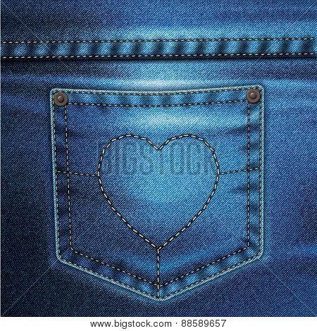 Jeans Vector Background Set Love