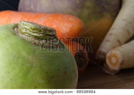 Group Of Raw Root Vegetables