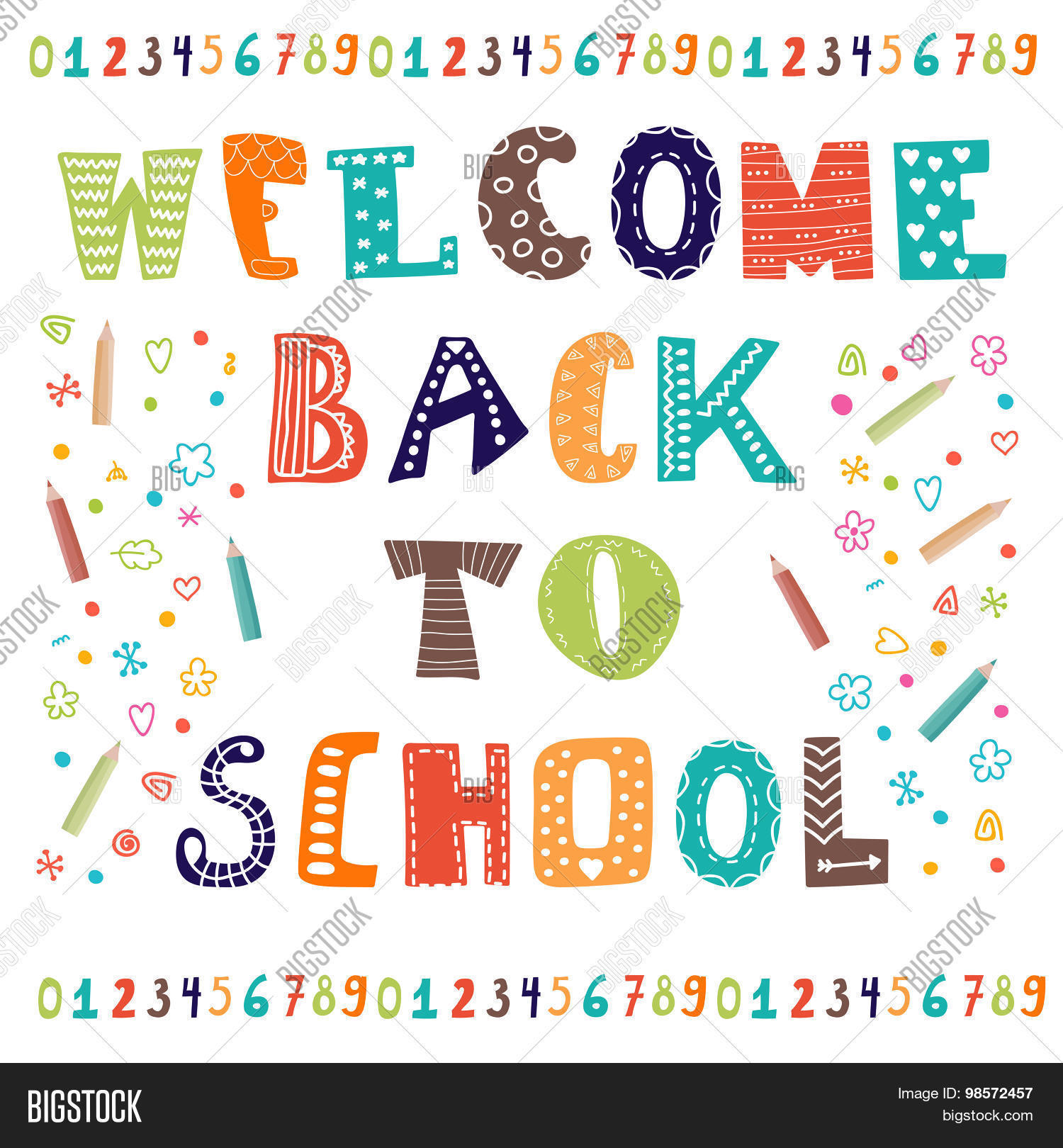 Welcome back school greeting card vector photo bigstock welcome back to school greeting card back to school design template kristyandbryce Choice Image