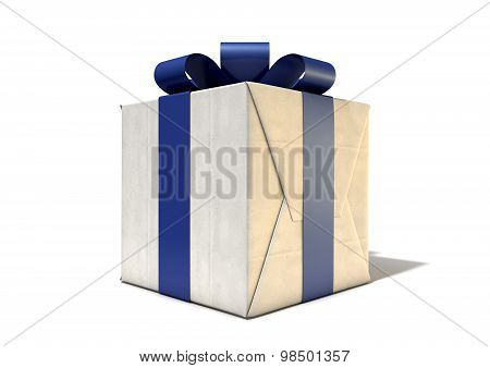 Wrapped Package With Bow