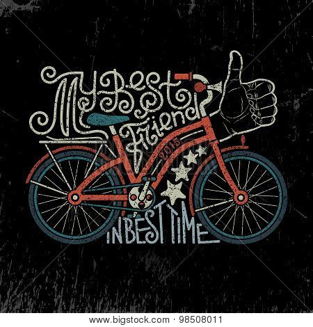 Bicycle vintage lettering