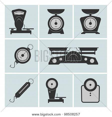 Set Of Weighing Machines