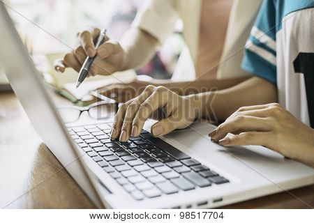 women with laptop