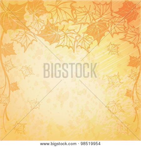Background with maple autumn leaves