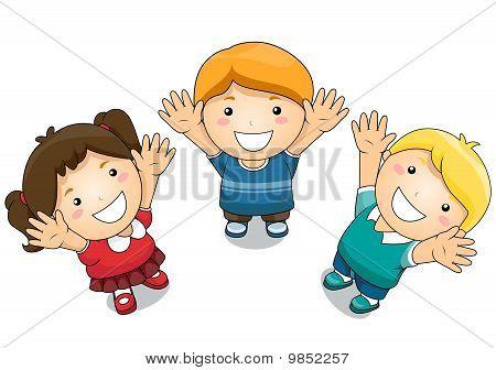 Kids Raising Their Hands