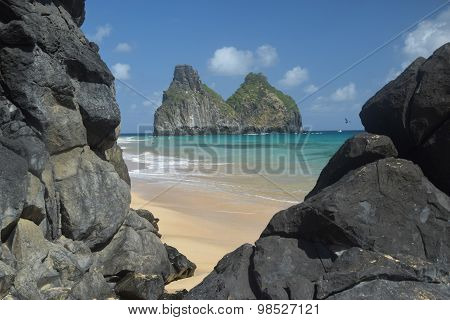 Crystalline sea beach in Fernando de Noronha, Brazil