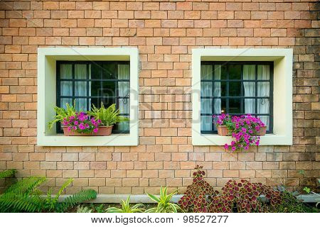 Exterior And Windows Of A Beautiful Old House