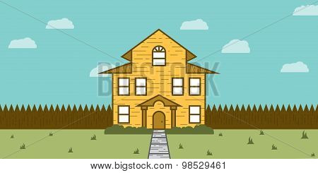 Real Estate for Sale or Rent in the form of a Yellow House