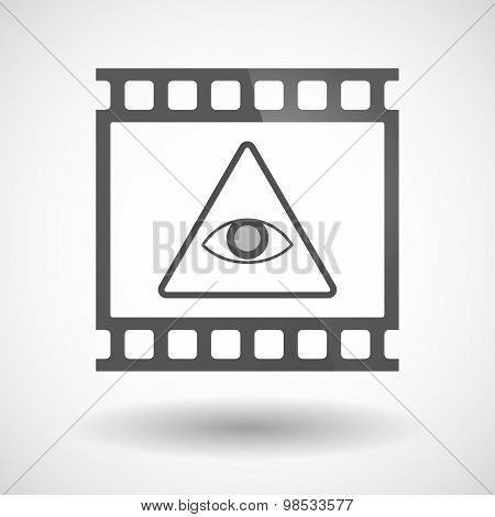 Photographic Film Icon With An All Seeing Eye