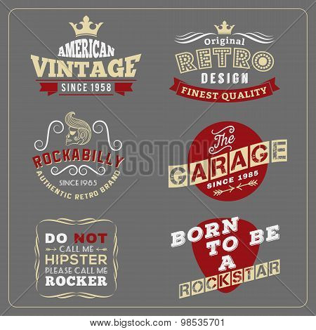 Retro vintage badge design