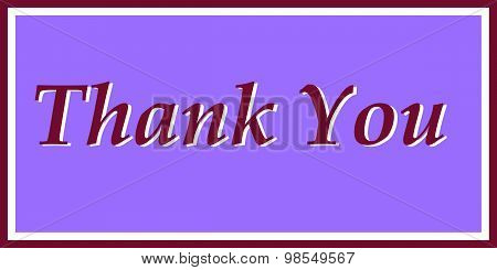 Thank You in Purple and Maroon