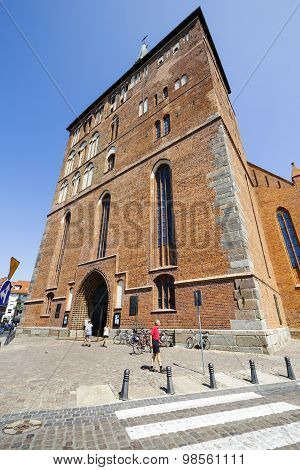 Frontage Of The Basilica In Kolobrzeg, Poland