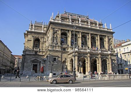 Hungarian State Opera House. Budapest, Hungary. February 2012 poster