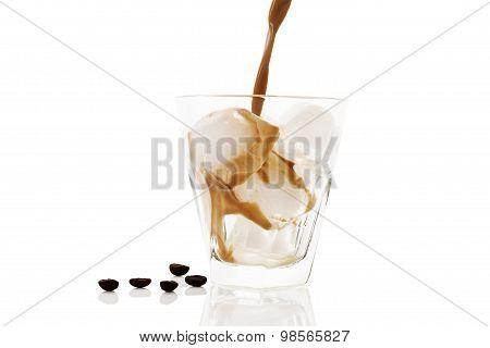 Ice Coffee Isolated.