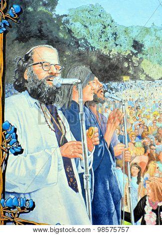 Mural hippies