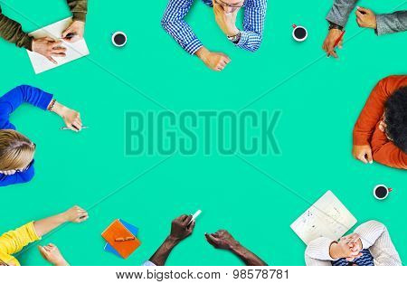 Multinational Meeting Ideas Background Wallpaper Brainstorm Meeting Creative Concept poster