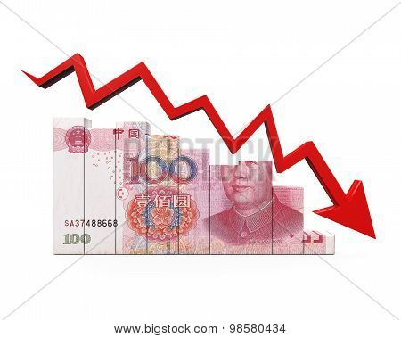 Chinese Yuan and Red Arrow