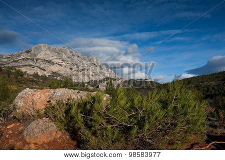 Mont Sainte Victoire in Provence, France poster