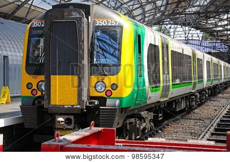 Train in Lime Street Station, Liverpool.