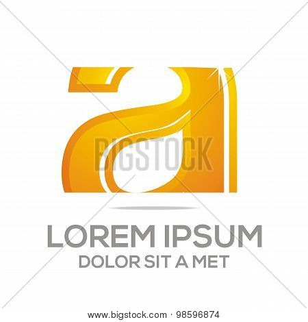 Logo Letter A Icon Abstract