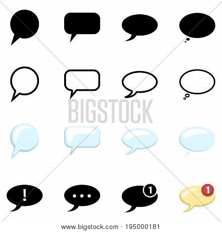 Vector Set Of Bubble Icons