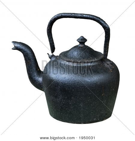 Old Black Iron Kettle