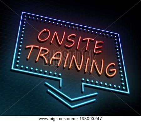 Onsite Training Concept.