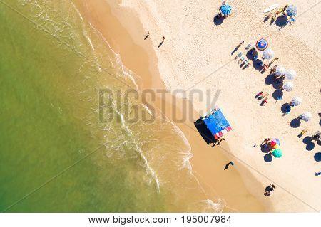 Dreamland beach from aerial