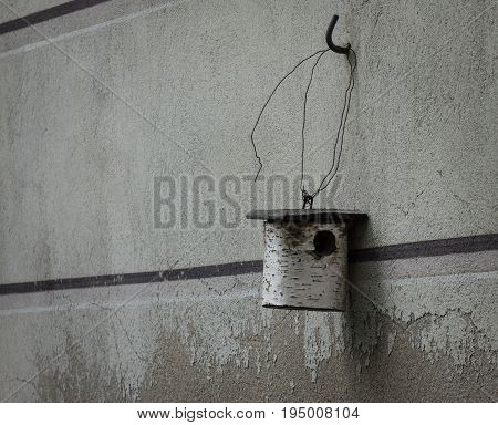 The Nesting Box Hanging On A Wall